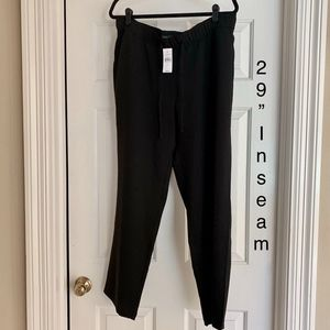 LOFT NWT Pull-On Front Tie Pocketed Dress Pants